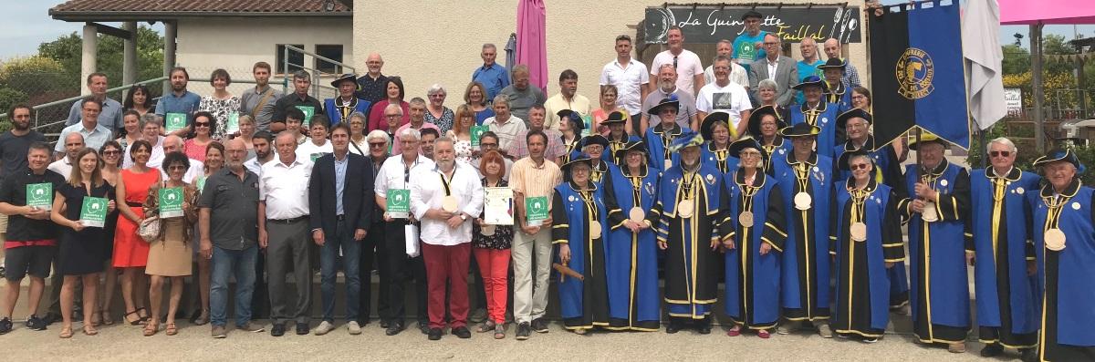 photo de la remise du label Vignobles et Découvertes au Syndicat des vins AOC coteaux du quercy