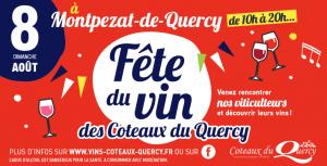 affiche de la Fête du Vin des Coteaux du Quercy 2021