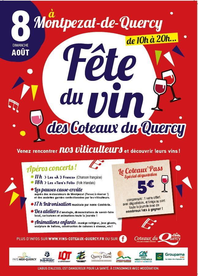 Programme complet et tarifs pour la Fête du Vin des Coteaux du Quercy 2021