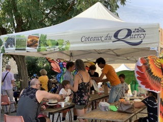 stand de la Fête du Vin des Coteaux du Quercy